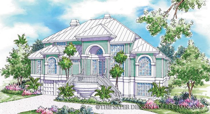 17 best images about coastal house plans the sater for Luxury coastal house plans