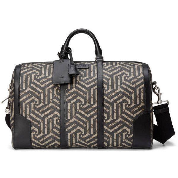 Gucci Gg Caleido Duffle (£1,210) ❤ liked on Polyvore featuring men's fashion, men's bags, bags, men, suitcases & duffle bags, mens bags, men's duffel bags, mens duffle bags, mens leather duffle bag and mens leather bags