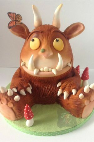 gruffalo birthday cake sitting sculpted cake