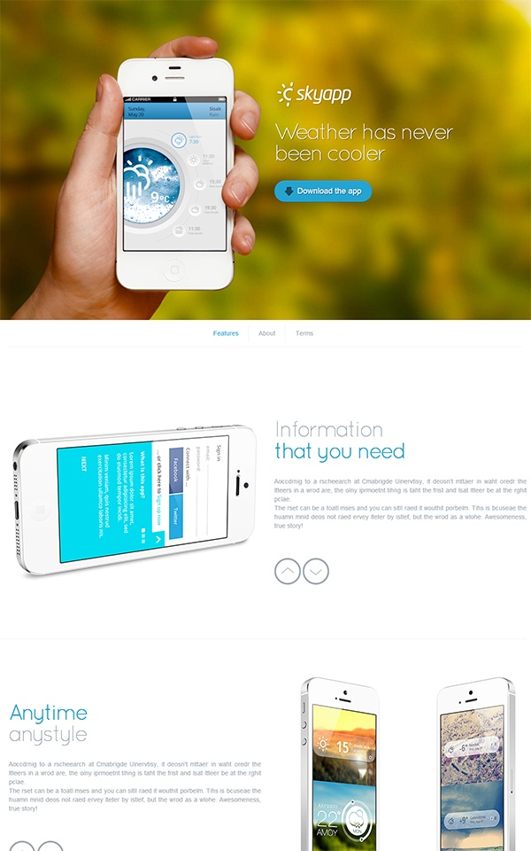 Superawesome - Retina Bootstrap App Landing Page by Awerest , via Behance