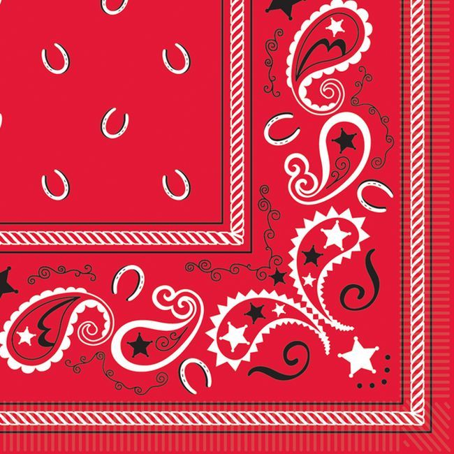 Bandana Luncheon Napkins With Images Western Party Decorations Themed Party Supplies Discount Party Supplies