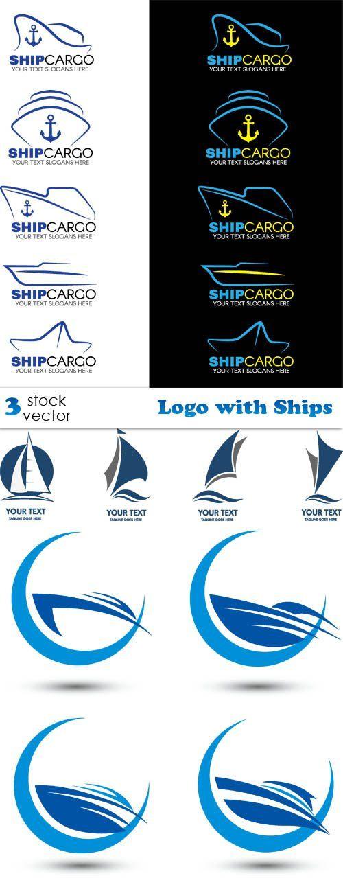 Vectors - Logo with Ships