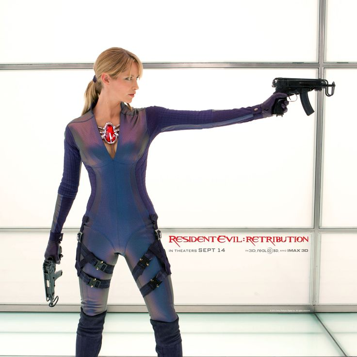"Sienna Guillory is back as Jill Valentine in ""Resident Evil: Retribution"". Only this time, she plays for Umbrella!"