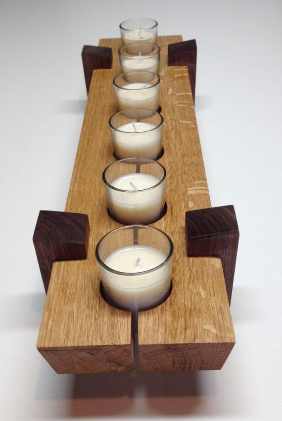 Wooden candle holder / Table center piece by HartmanWoodworks