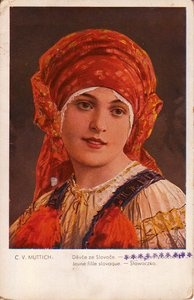 Slovak Girl Post Card