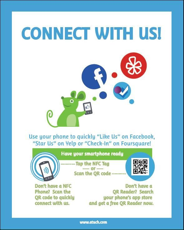 """Like Us"" - Social Media network Smart Poster (i.e. a Social Media NFC Poster) ... the future of influence"