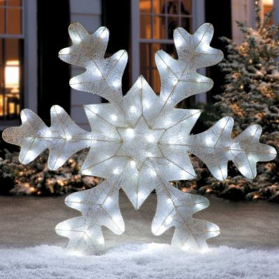 1000 images about outdoor christmas decorations on - Snowflake exterior christmas lights ...