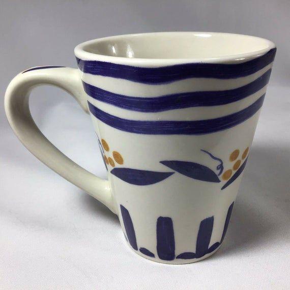 California Pantry 1999 Blue Latte Tapered Mug Classic Ceramics Etsy In 2020 Latte Mugs Mugs Best Coffee Mugs