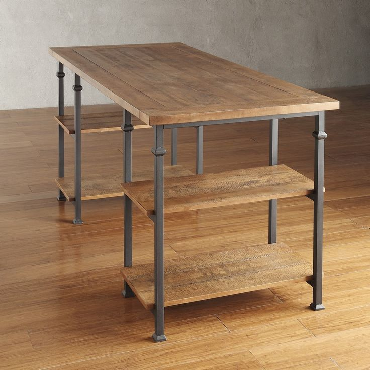 TRIBECCA HOME Myra Vintage Industrial Modern Rustic Oak Storage Desk - Overstock™ Shopping - Great Deals on Tribecca Home Desks