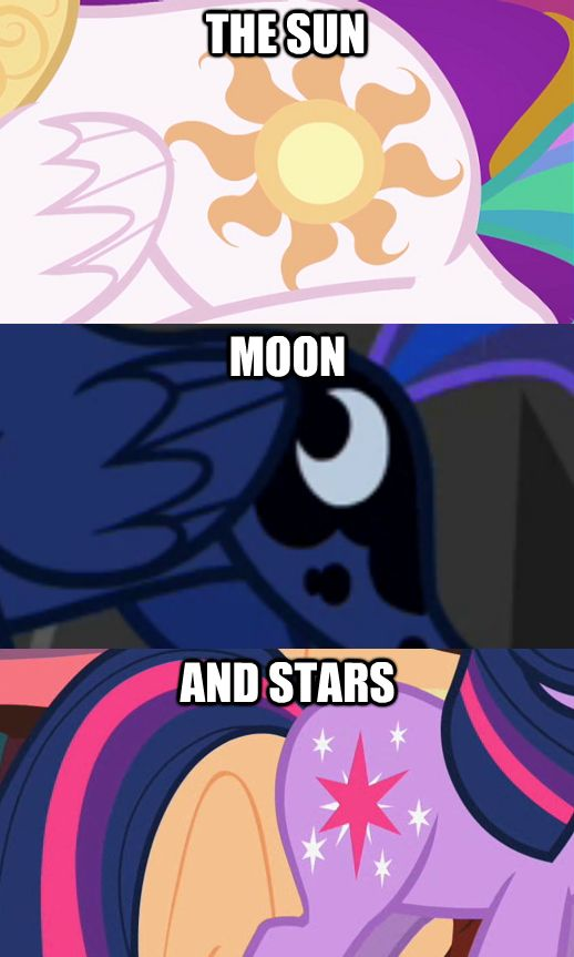 Princess Celestia, Princess Luna, and Twilight Sparkle