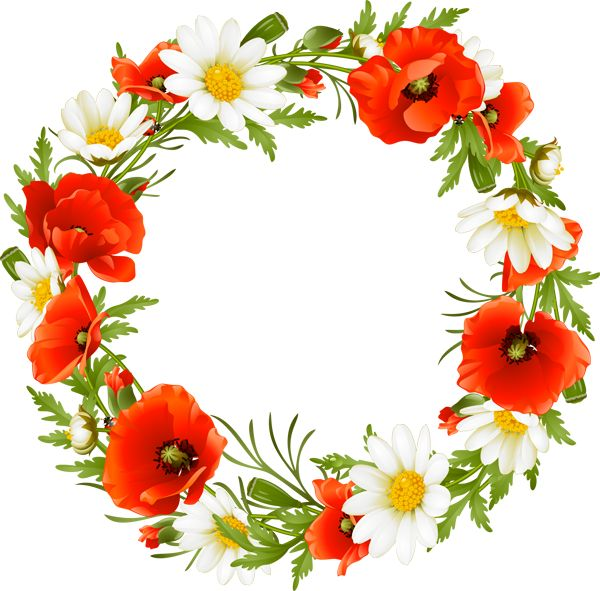 Grab This Free Summer Flower Clip Art: Summer Flower Wreath