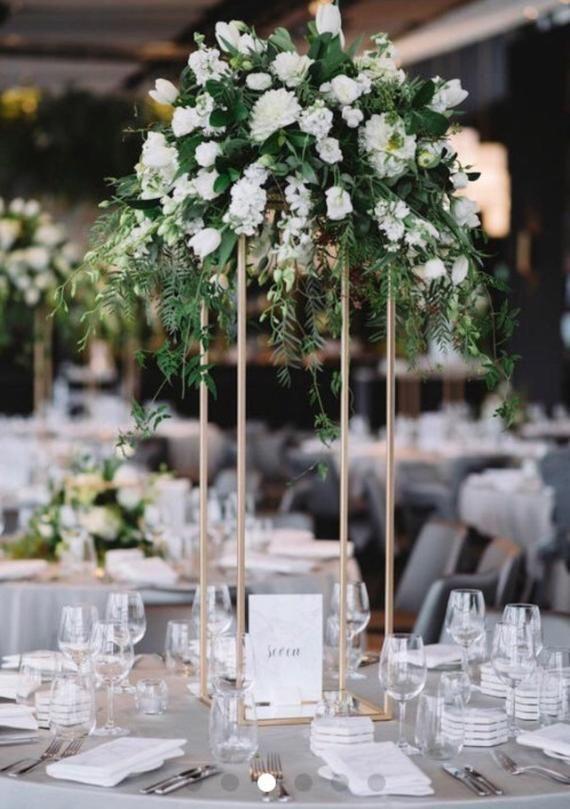 On Sale Modern Metal Stand Centerpiece Wedding Centerpiece Diy Wedding Home Decor In 2019 Wedding Table Details Wedding Centerpieces Gold Centerp