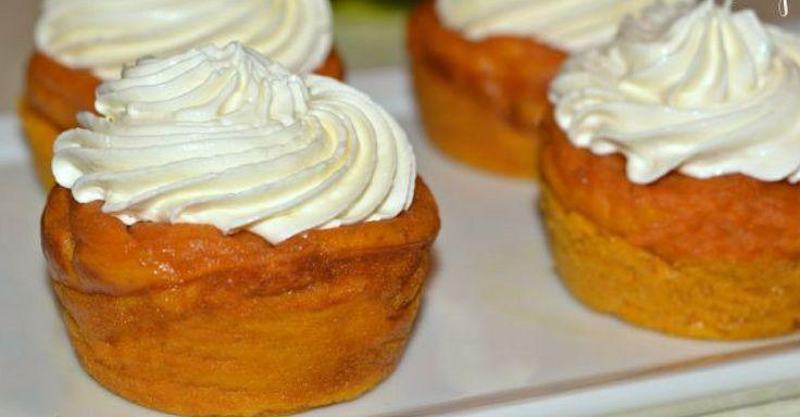 Recept na dýňové dortíky s krémem