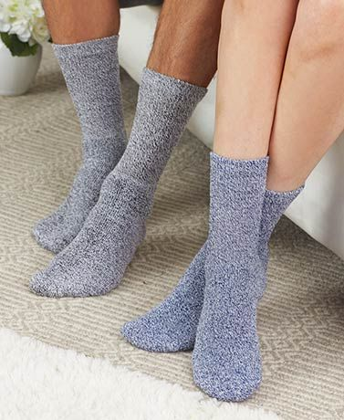 Be kind to your feet with these 7-Pair Marled Diabetic Socks for Men or Women. The non-binding socks won't constrict your feet or legs. They're ideal for anyone