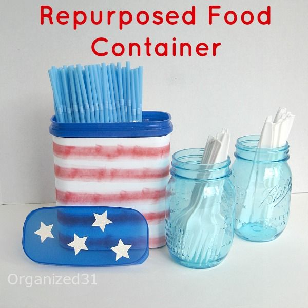 Organized 31 - Repurposed Food Container