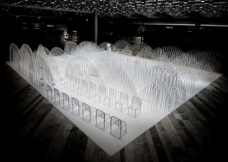 Snow-capped mountain installation by Nendo at Stockholm Furniture Fair   Yellowtrace.