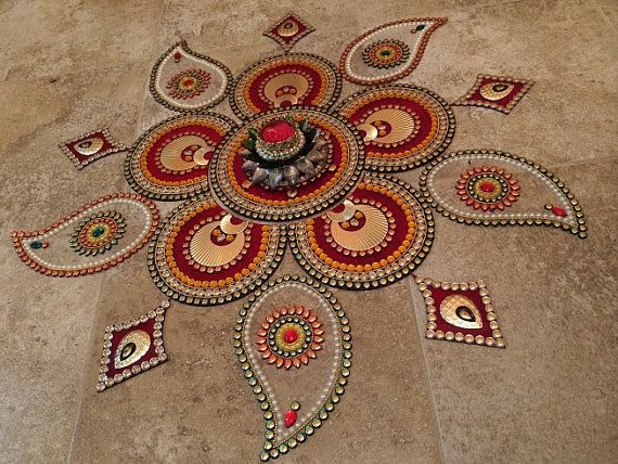 Big Rangoli For Wedding Functions with by JustForElegance on Etsy, $69.99