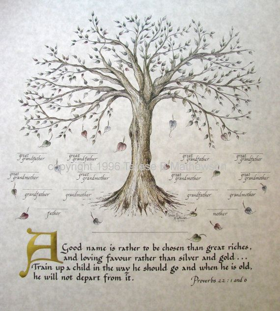FAMILY TREE ART Print Package of 3 by applesofgold on Etsy