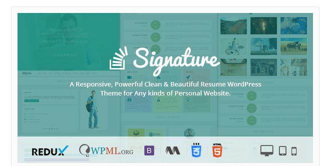 25  Modern CV/Resume WordPress Themes