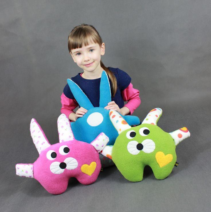 Zając - przytulanka, mini poduszka-rękodzieło / Hare - hand made toy, minipillow