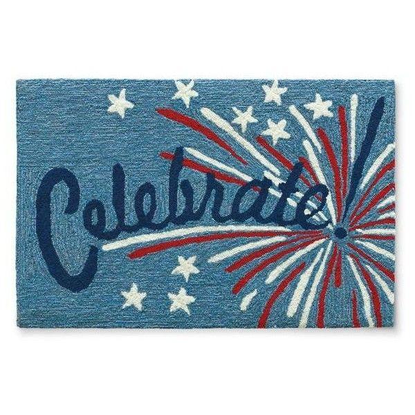 "Grandin Road Celebrate Americana Door Mat - 24"" X 36"" ($49) ❤ liked on Polyvore featuring home, outdoors, outdoor decor, outside garden decor, outdoor doormats, outside door mats and outdoor patio decor"