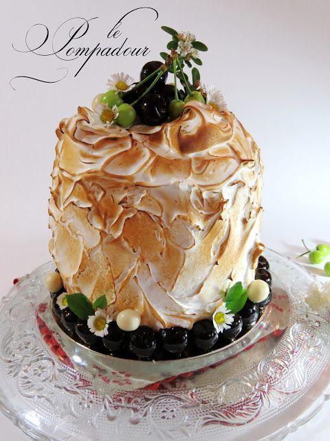 Le Pompadour (pain de Gênes, chantilly vanille au mascarpone, montage,meringue suisse)
