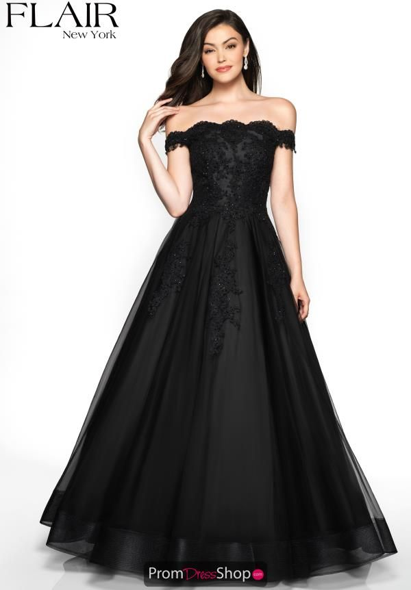 e170abea4dc4 This absolutely gorgeous Flair dress 19053 is a glamorous choice for your  social occasion. Creative designer uses a lavish lace detailing along the  bodice ...