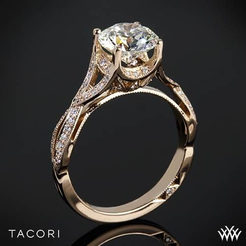 Tacori Ribbon-Twist Millgrain Diamond Engagement Ring | 3085