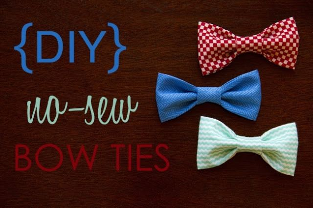 No sew boy ties! Perfect I can make Doctor Mew a bow tie for his collar! Bow ties are cool!