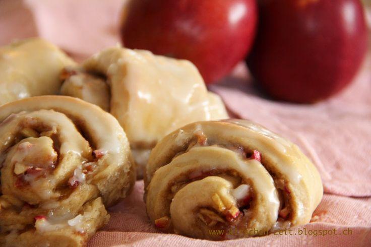 Apfel-Zimt-Schnecken - Kirschenzeit