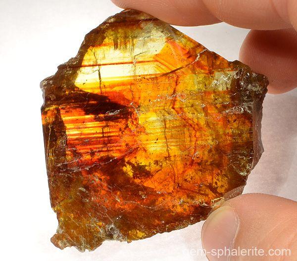 Raw sphalerite (zinc sulfide, gem quality).