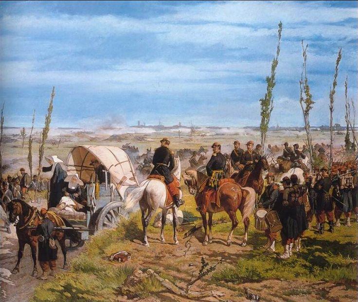 """Giovanni Fattori """"Italian field afrter the Battle of Magenta"""" (1862) Oil on canvas, Galleria dell'arte moderna, Palazzo Pitti, Firenze"""