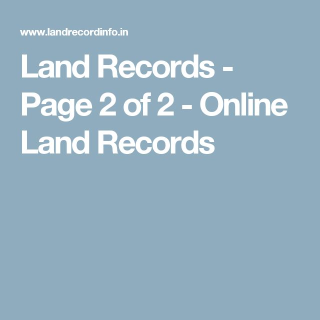 Land Records - Page 2 of 2 - Online Land Records
