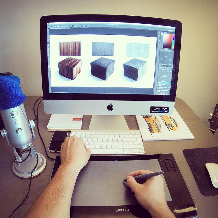 Recorded a demo of texturing cubes in Photoshop  Still using my unbreakable @wacom Intuos 3 from 2008. It's been with me through school in Sweden and Italy work in Switzerland all the way here to the U.S.   Have a great Monday  #industrialdesign #diseñoindustrial #sketching #wacom #intuos #tutorial #photoshop #designsketching by thesketchmonkey