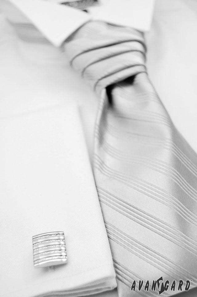 Pánská regata a manžetové knoflíčky AVANTGARD;  Men's ties and cufflinks AVANTGARD;  #tie #cufflinks #Men's #shirt