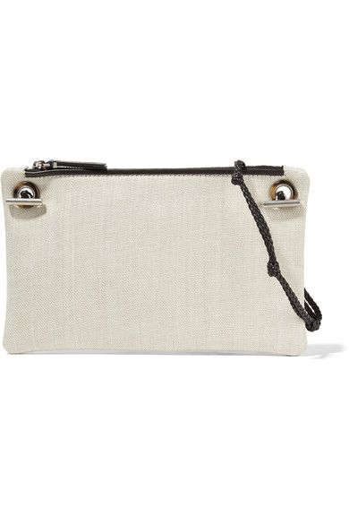 The Row - Party Time 7 Leather-trimmed Raffia Shoulder Bag - Neutral
