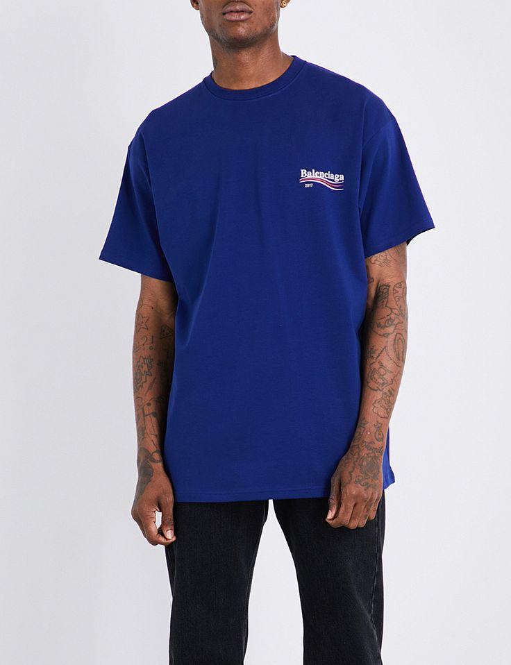 BALENCIAGA - Logo-print cotton T-shirt | Selfridges.com