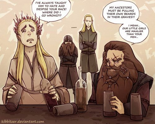 Thranduil and Gloin