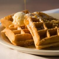 Waffle House Copycat Waffles - ◾1 1/2 C. all-purpose flour  ◾1 tsp. salt  ◾1/2 tsp. baking soda  ◾1 egg  ◾1/2 C. granulated sugar  ◾1 Tbs. granulated sugar  ◾2 Tbs. butter, softened  ◾2 Tbs. shortening  ◾1/2 C. half-and-half  ◾1/2 C. milk  ◾1/4 C. buttermilk  ◾1/4 tsp. vanilla