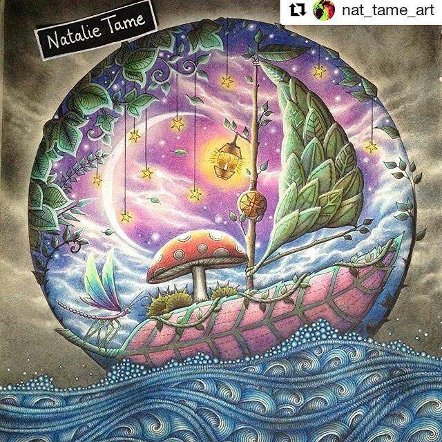 Perfeição #Repost @nat_tame_art with @repostapp #florestaencantada #enchantedforest #johannabasford #jardimsecreto #magicaljungle