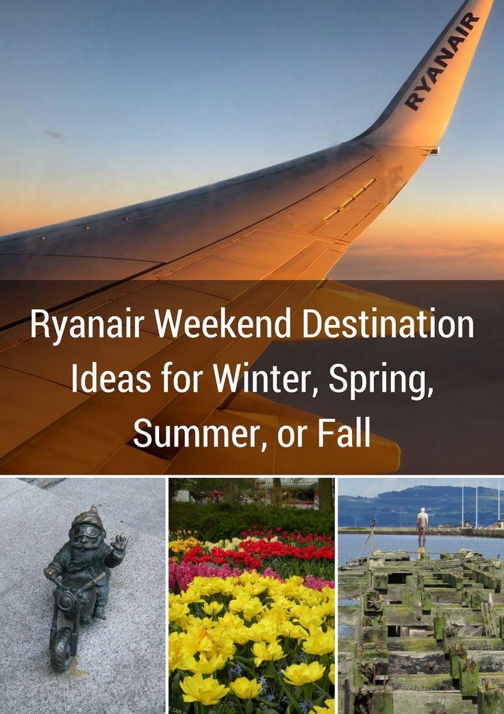 Ryanair Weekend Destination Ideas for Winter, Spring, Summer, or Fall   Sidewalk Safari