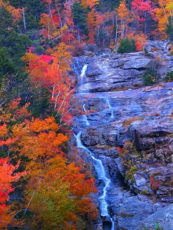 Maine waterfall north of Bangor