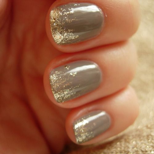 Grey with Gold Sparkle!