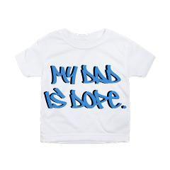 dopedad toddler all over print t-shirt > $21.99US > babybitbyte (cafepress.com/babybitbyte) #babybitbyte #cafepress #nerd #geek #urban #slang #dope #yo #lol #humor #fathersday #dad #daddy #papa #pa #pop #pops #dads