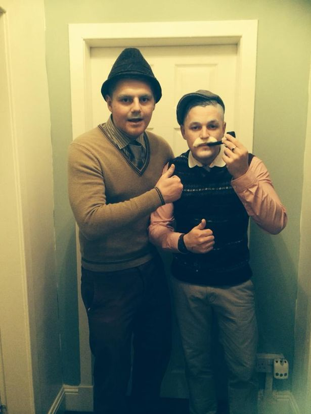 Two chancers barred from a nightclub sneaked in wearing fancy dress – and won the Halloween competition.  Kieran Piece and James Jack tricked bouncers with their disguise of Jack and Victor from BBC Scotland comedy Still Game.