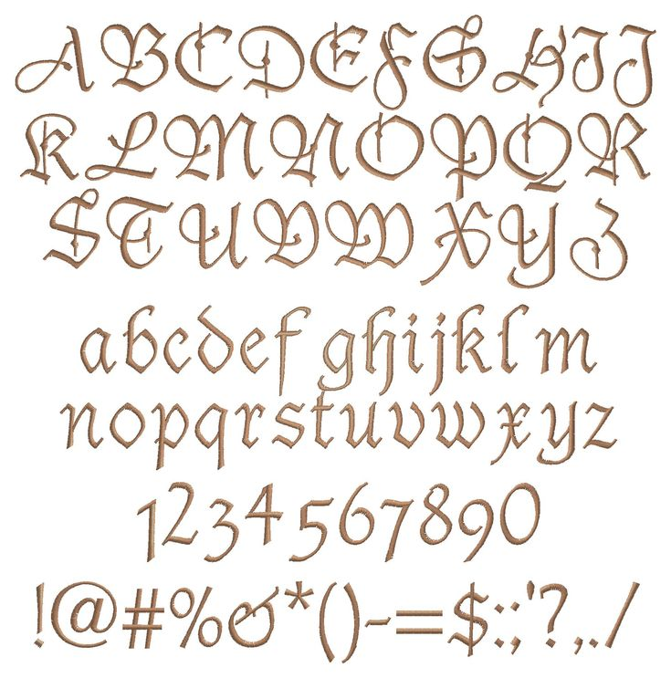 Fancy Script Alphabet Uppercase And Lowercase Alphabet