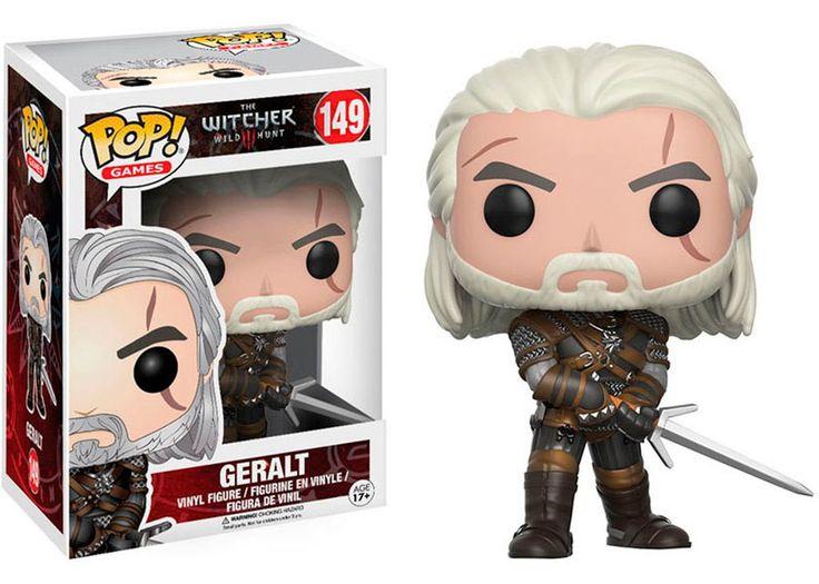 Cabezón Geralt de Rivia 9 cm. The Witcher 3: Wild Hunt. Línea POP! Games. Funko Estupendo cabezón de Geralt de Rivia de 9 cm, uno de los personajes que aparecen en el videojuego de éxito The Witcher 3: Wild Hunt, 100% oficial, licenciado, fabricado en vinilo de alta calidad y sobretodo coleccionable junto con sus compañeros del juego. No lo dejes escapar y colecciónalos.