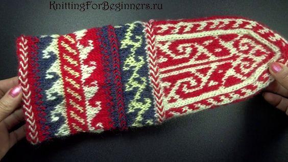 Как вязать носки   Вязание джурабов Мастер класс How to knit socks