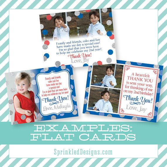 Custom Thank You Cards Design Fee Photo Thank by SprinkledDesign