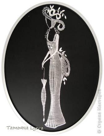 Картина панно рисунок Плетение на коклюшках Тургеневские барышни Нитки фото 1